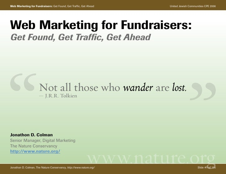 Web Marketing for Fundraisers: Get Found, Get Traffic, Get Ahead