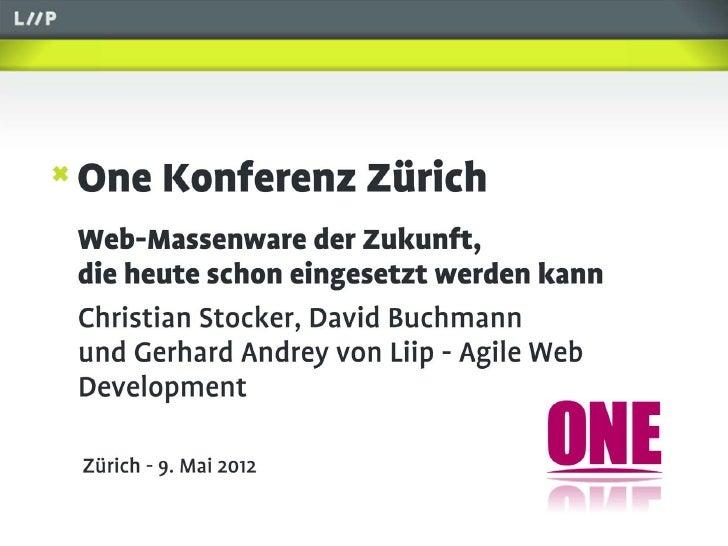 Web-Massenware der Zukunft - David, Christian und Gerhard von Liip AG