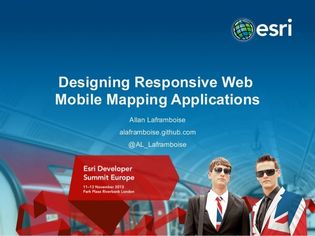 Building responsive web mobile mapping applications