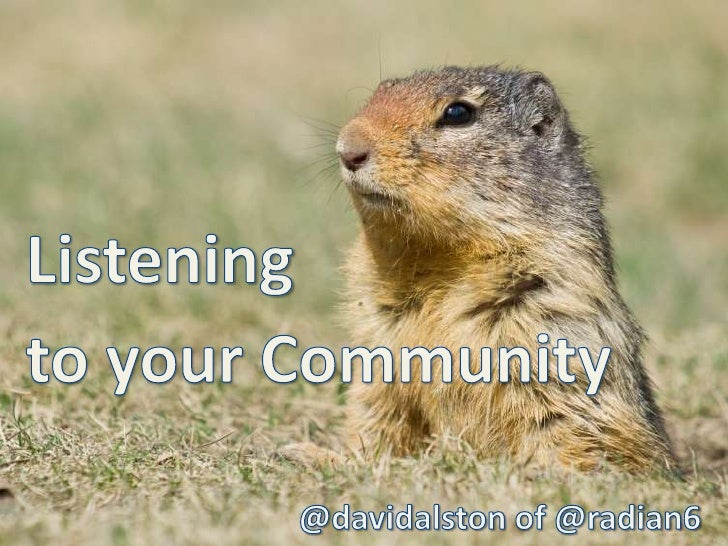 Listening<br />to your Community <br />@davidalston of @radian6<br />