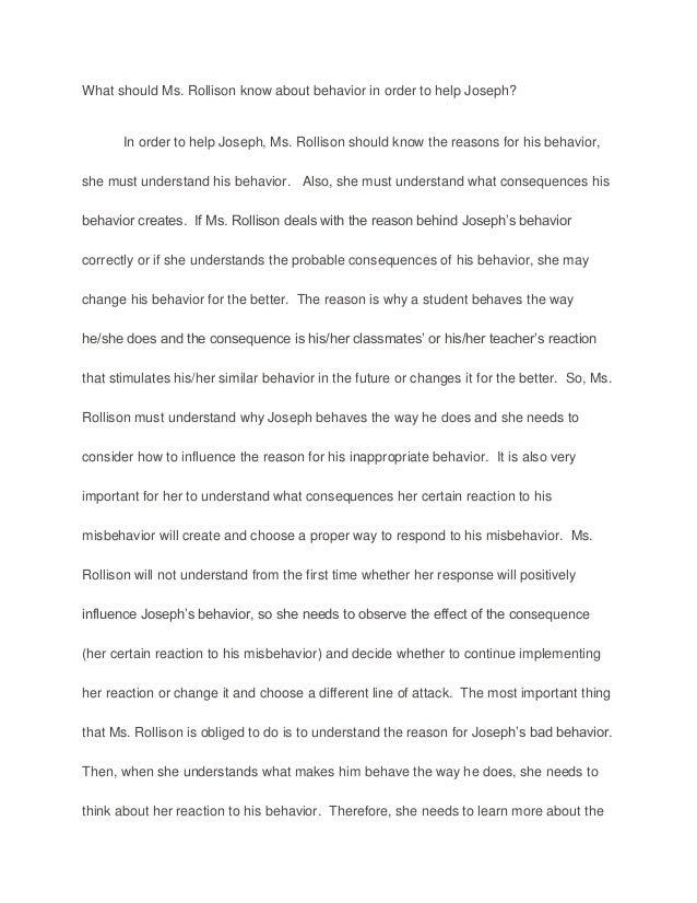 behavior essay
