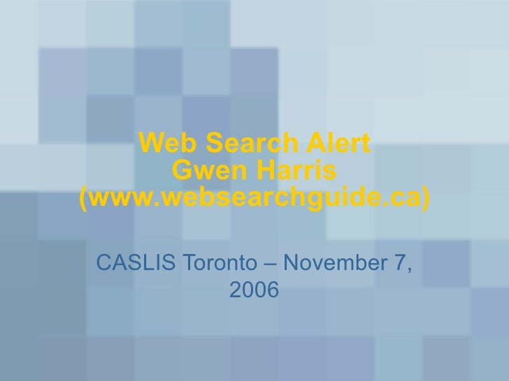 Web Search Alert 2006