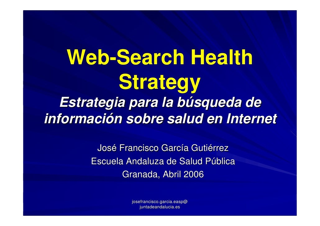 Web Search Health Strategy 2006
