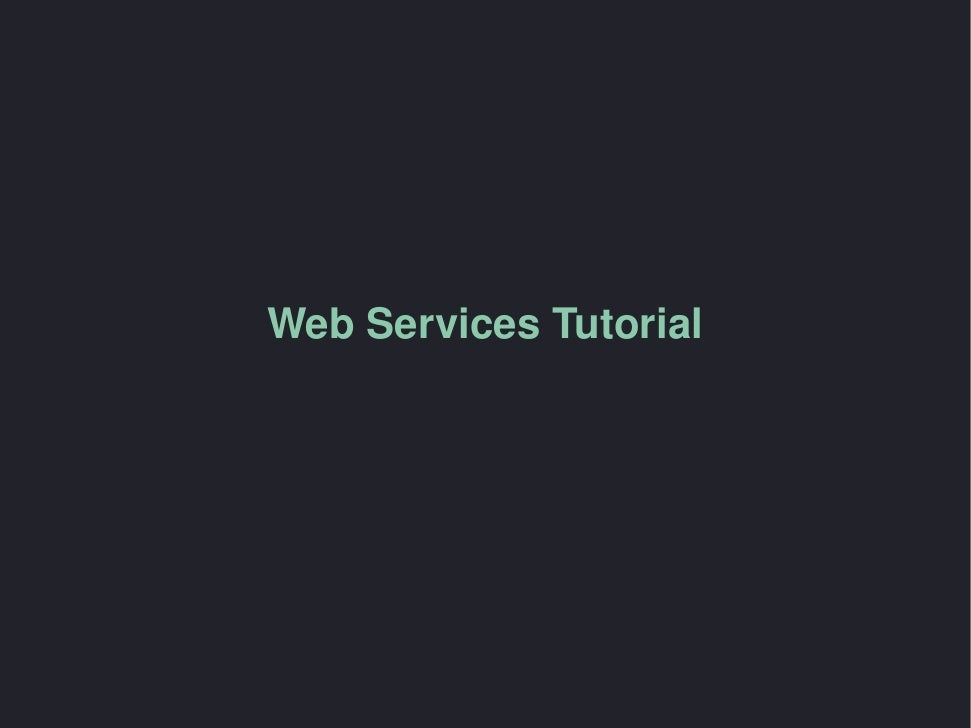 Web Services PHP Tutorial