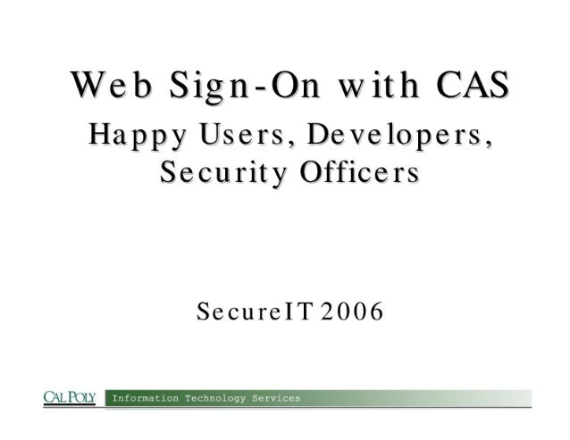 Web Sign-On with CAS