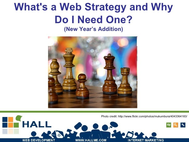 What's a Web Strategy and Why Do I Need One? (New Year's Addition) Photo credit: http://www.flickr.com/photos/mukumbura/40...