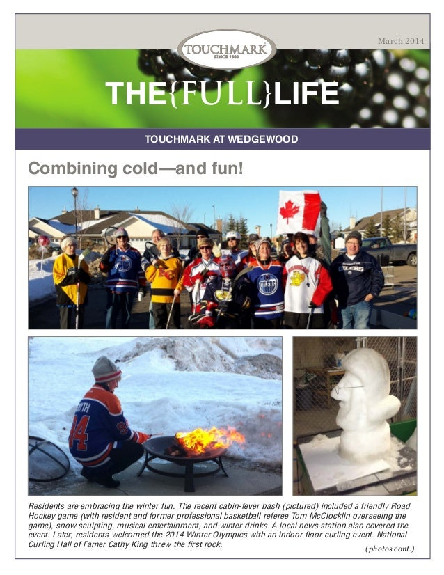 Touchmark at Wedgewood - March 2014 Newsletter