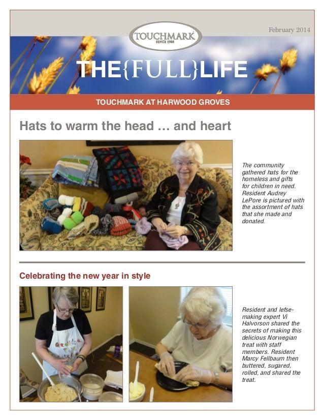 Touchmark at Harwood Groves - February 2014 Newsletter