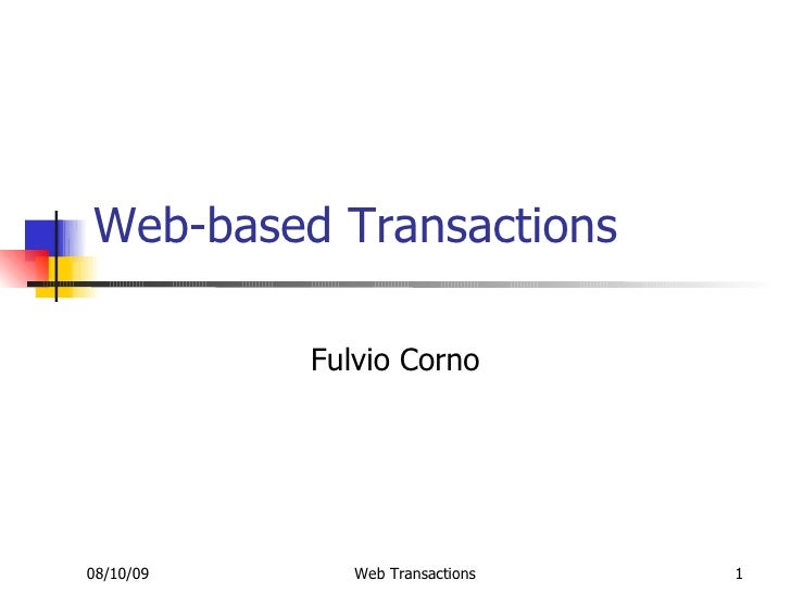 Web Transactions