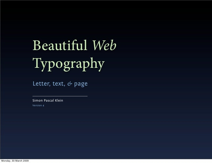 Beautiful Web                         Typography                         Letter, text, & page                          Sim...