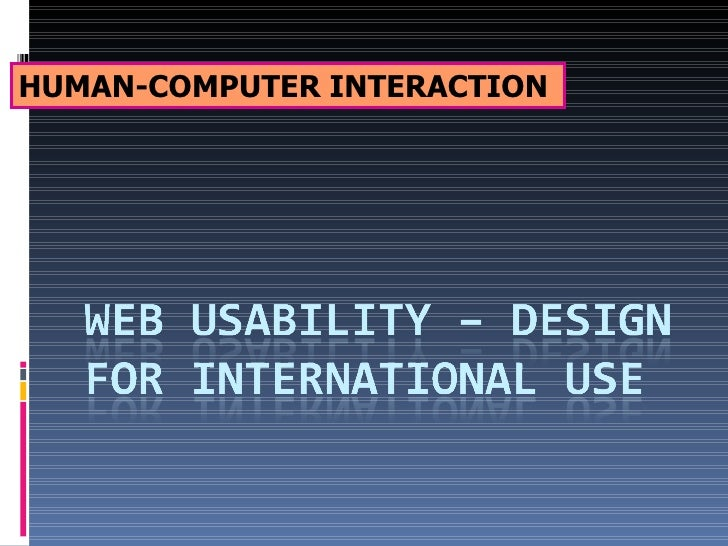 Web Usability   International Design