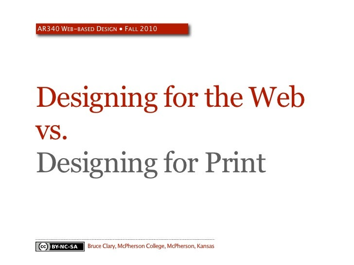 Web vs. Print