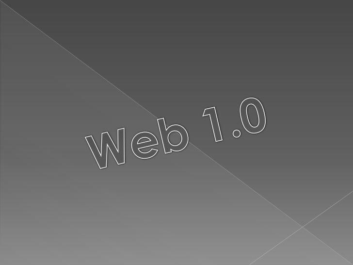Web 1.0<br />