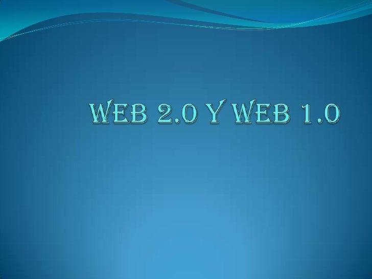 web 2.0 y web 1.0<br />