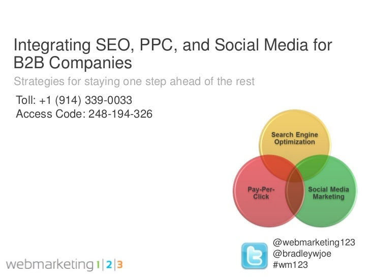 Integrating SEO, PPC, and Social Media forB2B CompaniesStrategies for staying one step ahead of the restToll: +1 (914) 339...