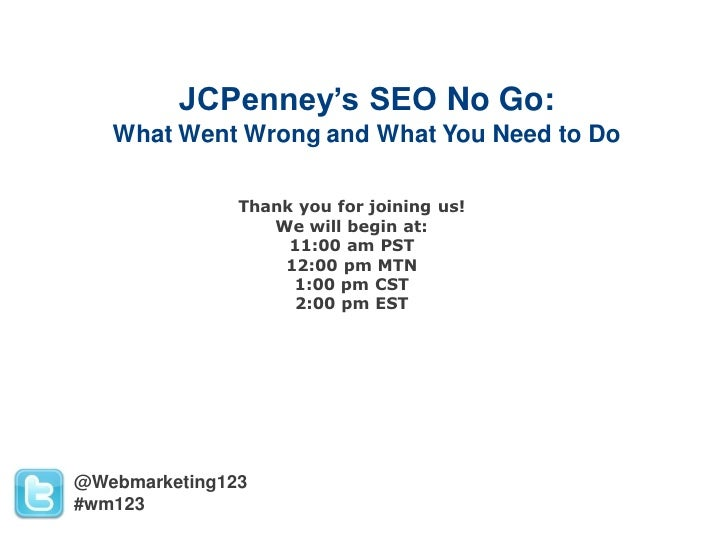 Web123 JCPenney's SEO No Go-What Went Wrong