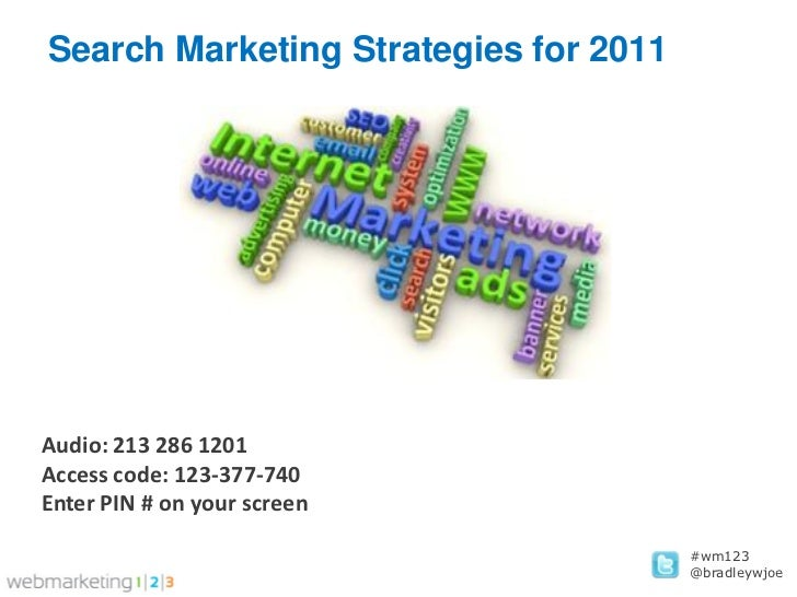 Web123 Search Marketing Strategies for 2011