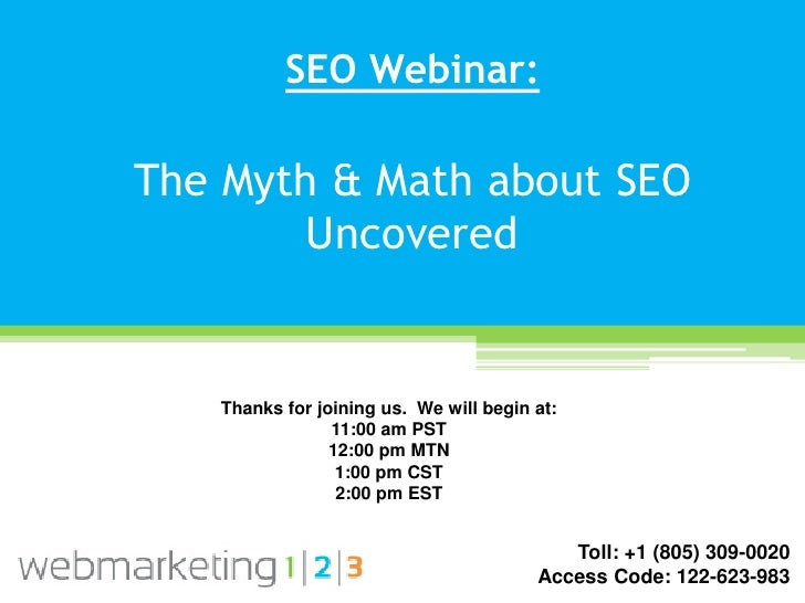 Web123 The Myth and Math About SEO Uncovered-10-06-2011-v f