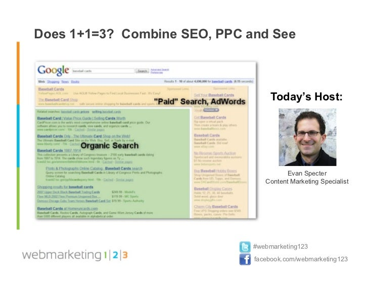Web123 does 1+1=3  combine seo & ppc and see