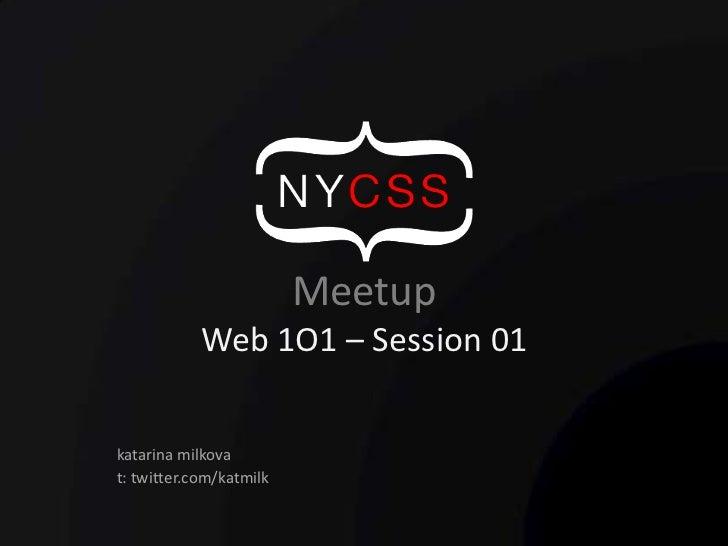 Web1O1 - Session 1