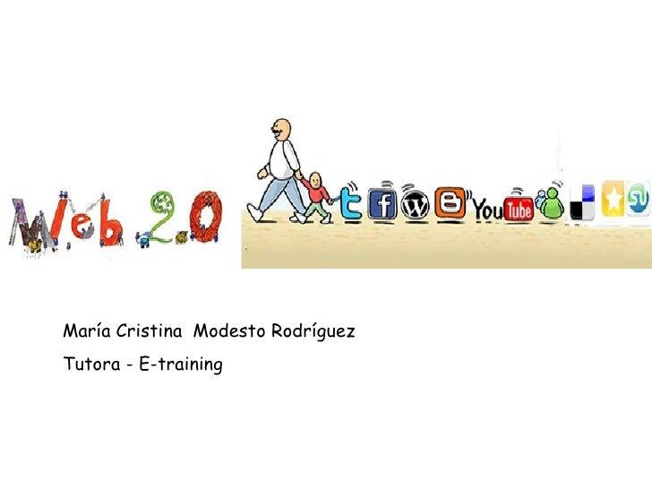 María Cristina  Modesto Rodríguez Tutora - E-training
