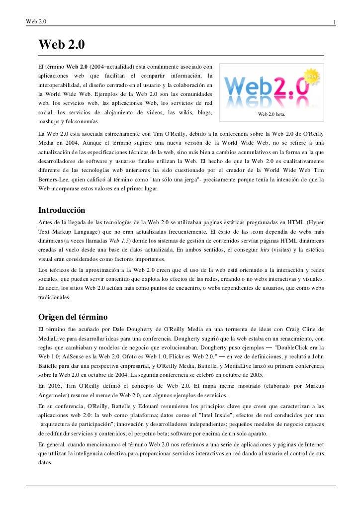 Web 2.0                                                                                                                   ...