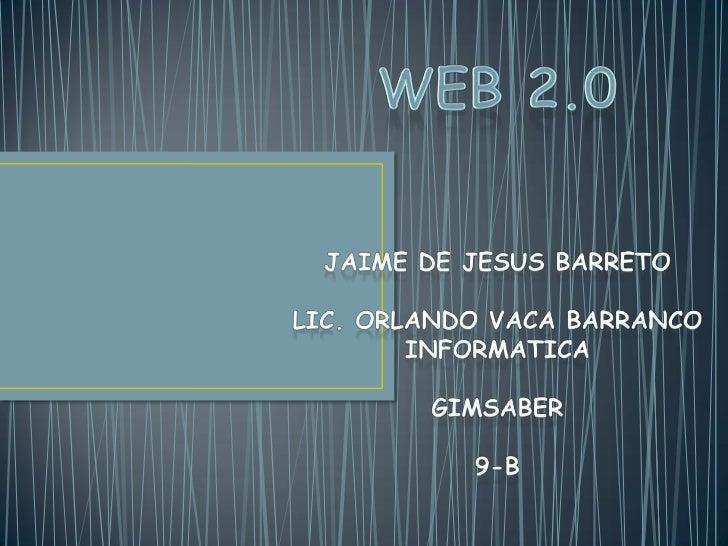 Web 2.0 es una incipiente realidad de Internet que,con la ayuda de nuevas herramientas y tecnologías decorte informático, ...