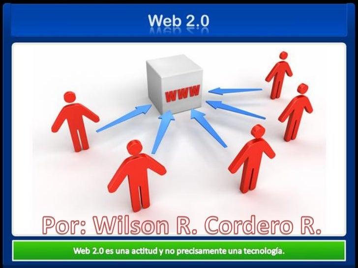El término Web 2.0 está asociado a aplicaciones web que facilitan el compartirinformación, la interoperabilidad, el diseño...
