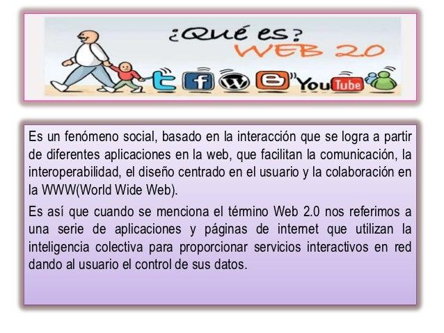 Es un fenómeno social, basado en la interacción que se logra a partirde diferentes aplicaciones en la web, que facilitan l...