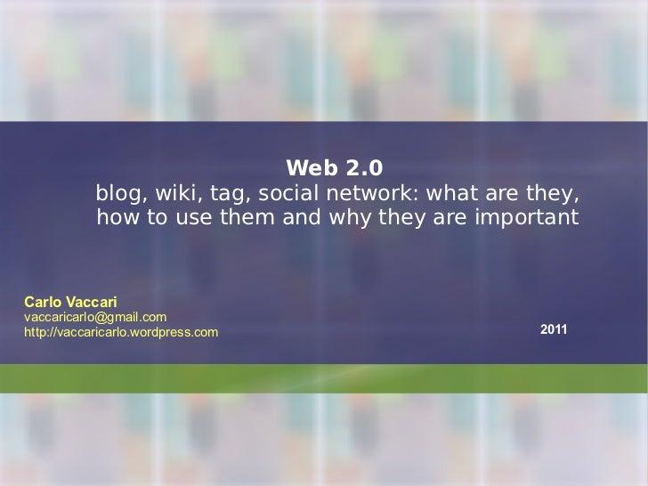 Web 2.0: a course