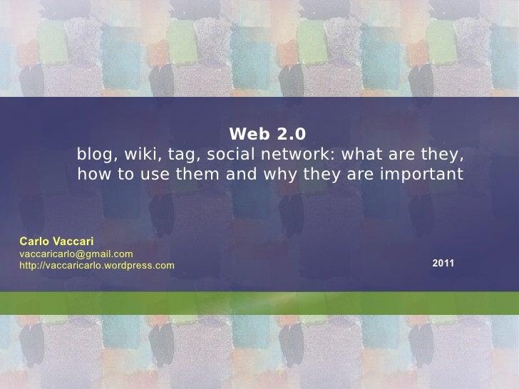 Web2.0 2012 - lesson 2