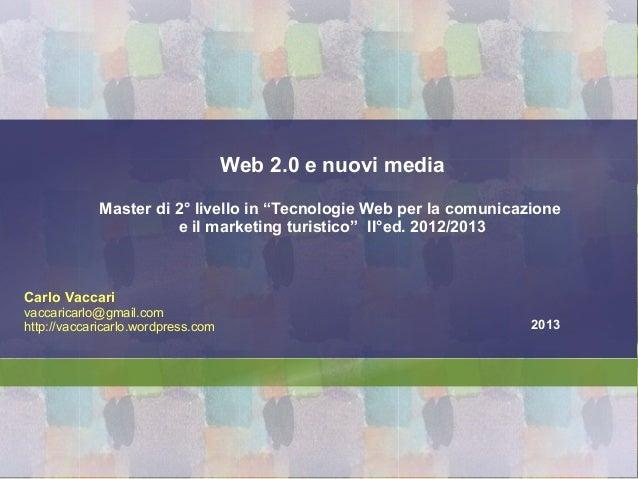 Web2.0 e nuovi media