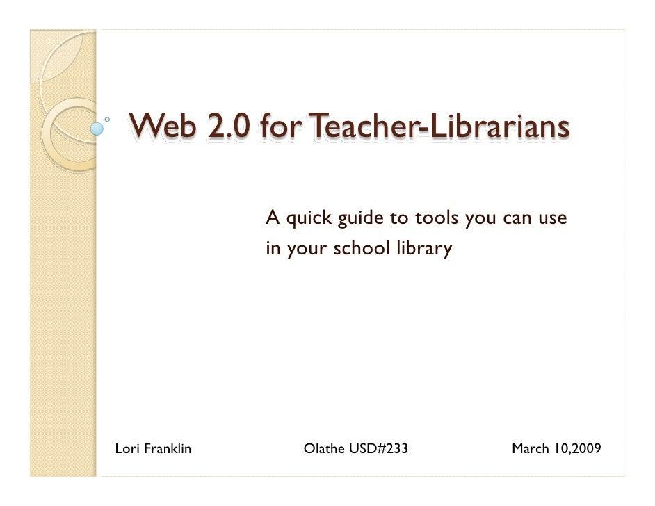 Web 2.0 for Teacher-Librarians
