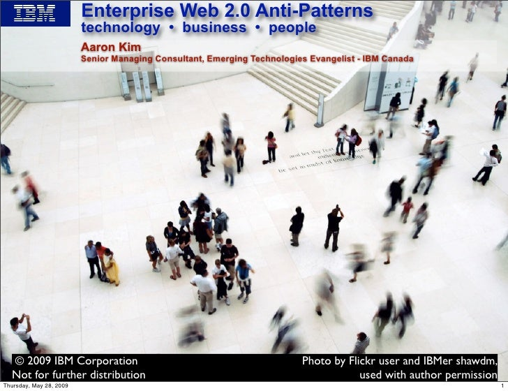 Enterprise Web 2.0 Antipatterns