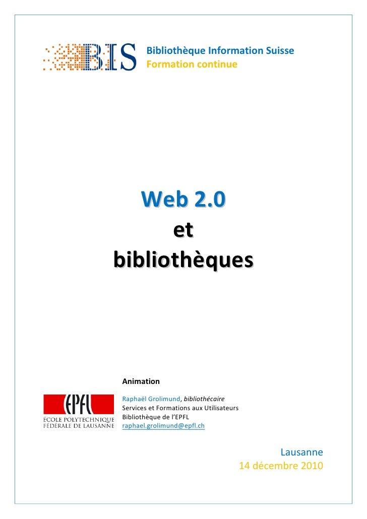 Web2.0 et bibliothèques