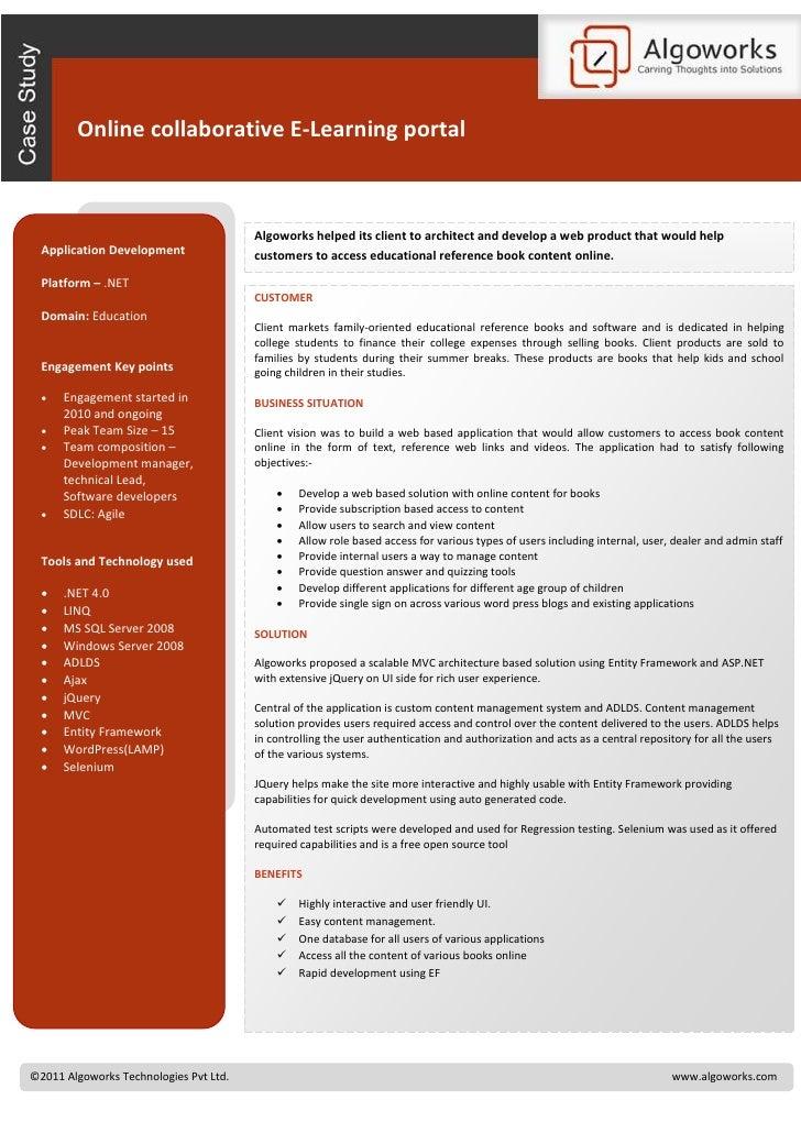 Online collaborative E-Learning portal