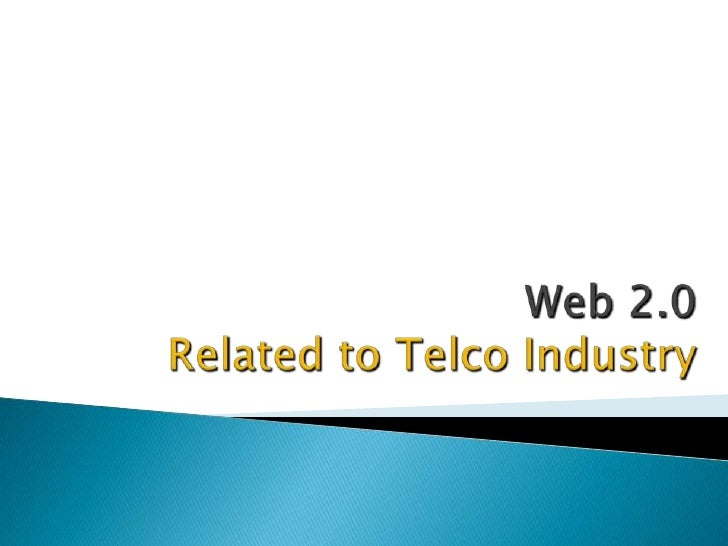 Web 2.0 for telcos