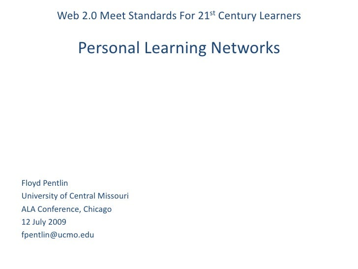 Web2.0 Meets Standards: Personal Learning Networks