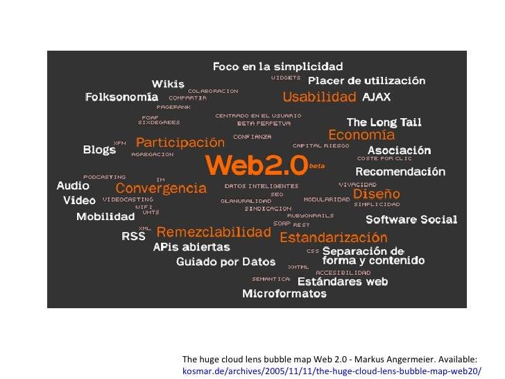 Ingrid Noguera The huge cloud lens bubble map Web 2.0 - Markus Angermeier. Available:  kosmar.de/archives/2005/11/11/the-h...