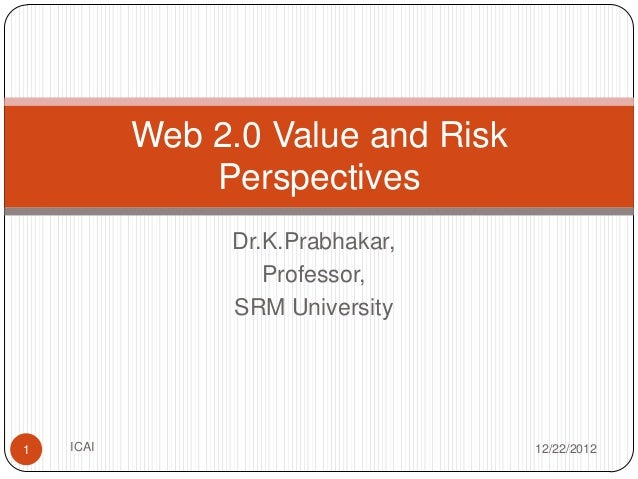 Web 2.0 Opportunities and Risks