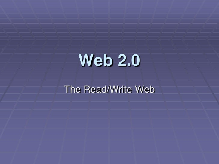 An Introduction to Web 2.0