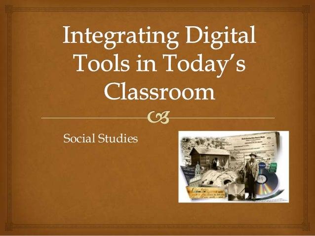 Web 2.0 tools for social studies