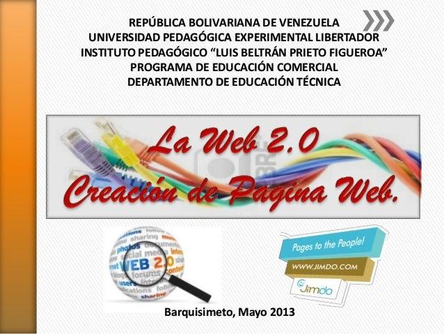 Web 2.0 y jimdo