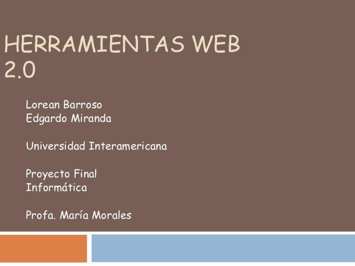 Web 2.0 UIP Miranda- Barroso
