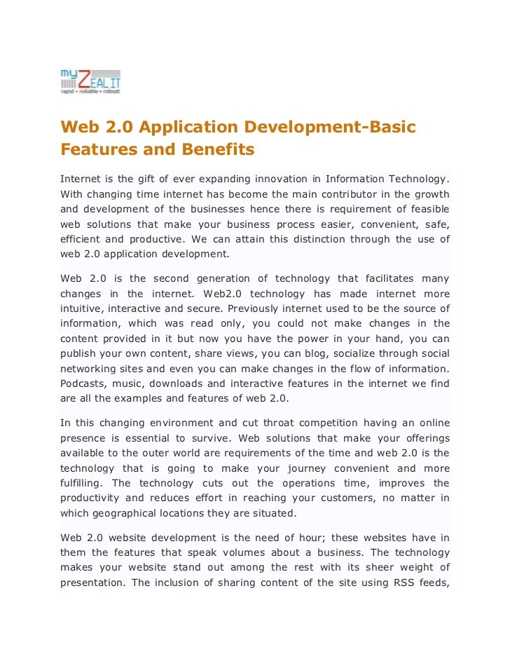 Web 2.0 Application Development-Basic Features and Benefits