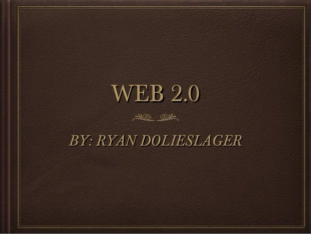 Web 2.0 powerpoint
