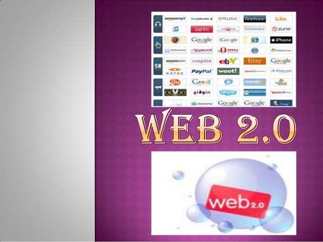  Se  puede definir la web 2.0 como un conjunto de aplicaciones y herramientas, que permiten marcar una nueva tendencia en...