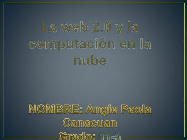 La web 2.0 es el cambio sobre la concepción de internet y sus funcionalidades se orienta mas en facilitar la máxima intera...