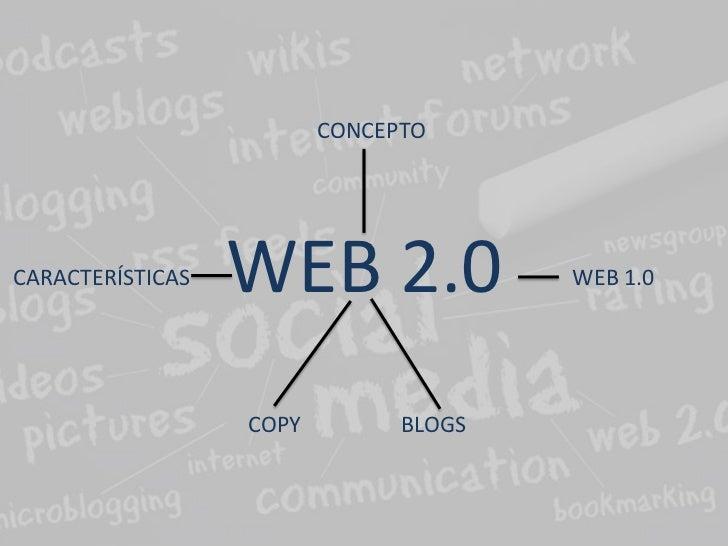 CONCEPTOCARACTERÍSTICAS   WEB 2.0              WEB 1.0                  COPY         BLOGS
