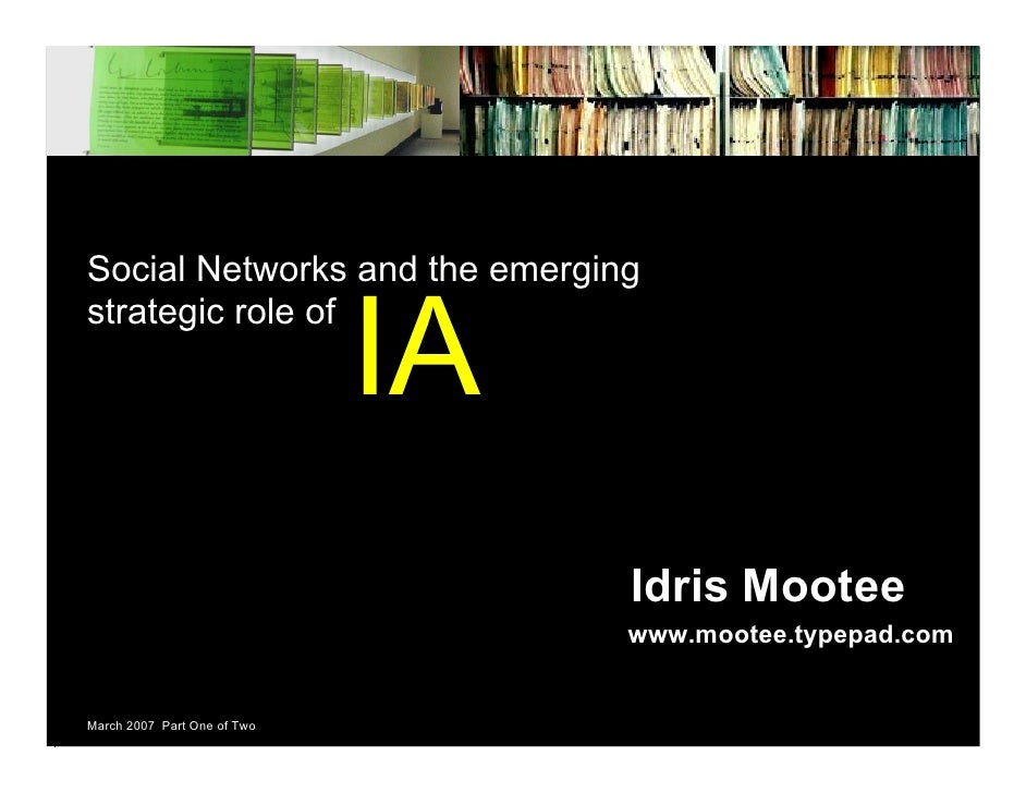 Social Networks and the emerging                                IA strategic role of                                      ...